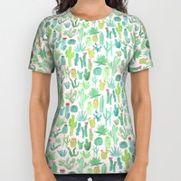 Cactus All Over Print Shirt by Abby Galloway | Society6