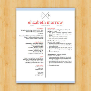 COUPON INSIDE! Easy to Edit Resume Template - The Elizabeth - Helping YOU Save Time & Get The Dream Job You Deserve - Instant Download