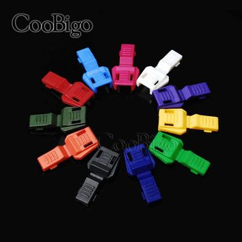 Mixed 50pcs 11 Colors Pick Zipper Pull Cord Ends Paracord & Cord Tether Tip Cord Lock Outdoor Backpack Bag Parts Accessories