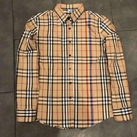 Fashion burberry shirt men's  and women's casual jacket cardigan luxury brand high quality