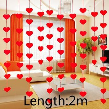 2m Wedding Supplies New Love Dress Curtain DIY Non-woven Garland Peach Garland Marriage Room Layout