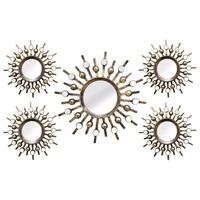 5 Piece Burst Mirrors-Stratton Home Decor