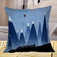Movies the Hobbit on Square Pillow Cover
