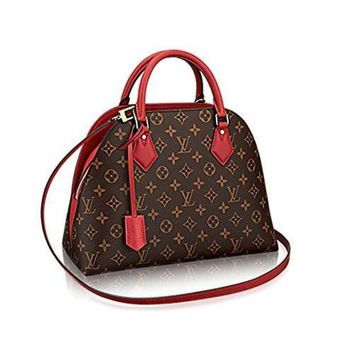 VONE05 Authentic Louis Vuitton Monogram Canvas ALMA B'N'B Bag Handbag Red Article: M41779 Made in France