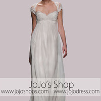 Grecian Lace Empire Wedding Dress with Keyhole Back | DV3012