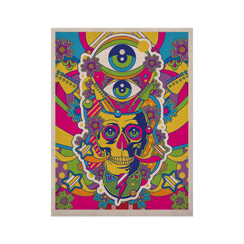 "Roberlan ""Skull"" Rainbow Illustration KESS Naturals Canvas (Frame not Included)"