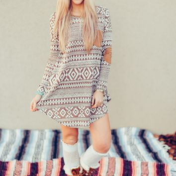 Brushed Snowy Day Knit Dress