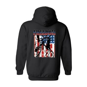 Men's/Unisex Zip-Up Hoodie Freedom Statue Of Liberty