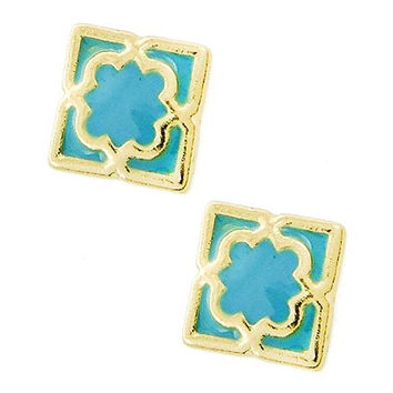 Teal Treasure Stud Set