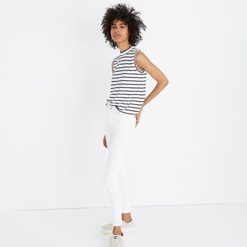 Mockneck Tank Top in Stripe