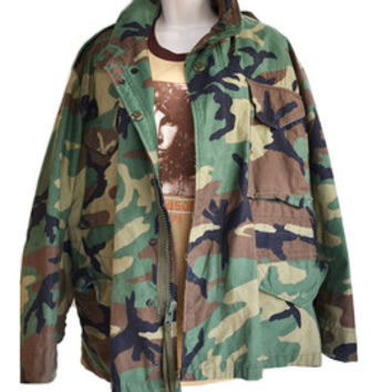Plus size Unisex Camo Army Jacket