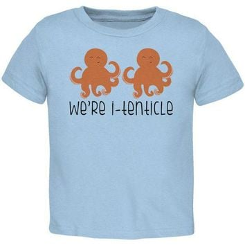 CREYCY8 Octopus We're Identical Itenticle Twins Funny Pun Toddler T Shirt