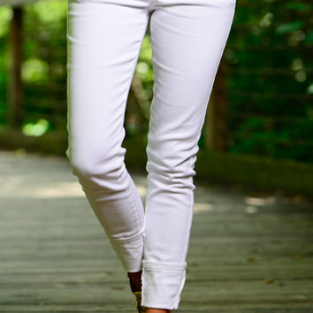 The Taylor Skinny Jean, White