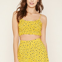 Ditsy Floral Print Cropped Cami