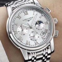 LONGINES 2019 new street fashion men and women waterproof luminous mechanical watch