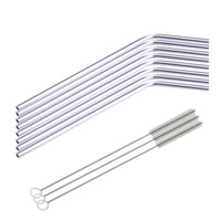 8 Pcs Stainless Steel Metal Drinking Straw Reusable Straws + 3 Cleaner Brush Kit IT6610