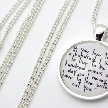 Winnie the Pooh, If You Live To Be A Hundred Necklace