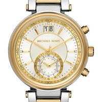 Women's MICHAEL Michael Kors 'Sawyer' Bracelet Watch, 39mm - Silver/ Gold