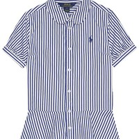 RALPH LAUREN - Striped cotton peplum shirt 7-16 years | Selfridges.com