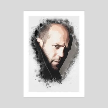 A Tribute to Jason Statham, an art print by Dusan Naumovski