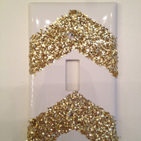 Chevron Glitter Light Switch Cover