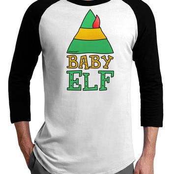 Matching Christmas Design - Elf Family - Baby Elf Adult Raglan Shirt by TooLoud