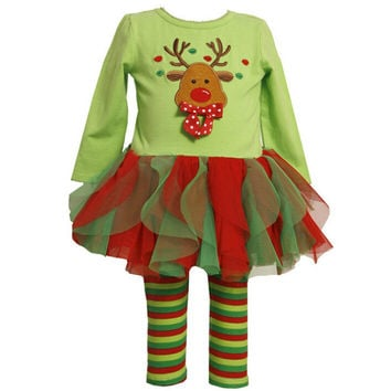 Girl's tutu autumn dresss+legging 2 pcs. set