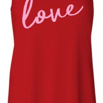 Love - Valentines Day - Ruffles with Love - Racerback Tank - Womens Fitness - Workout Clothing