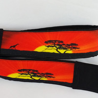 Giraffe Camera Strap. Sunset Camera Strap, Africa Camera Strap. Accessories