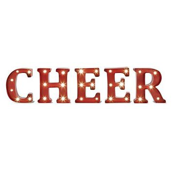 ''Cheer'' LED Marquee Sign Wall Decor