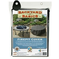SheilaShrubs.com: Backyard Basics Premium Fire Pit Cover 07211BB by Blue Rhino: Fire Pit Accessories