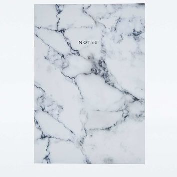 Black and White Marble Notebook - Urban Outfitters
