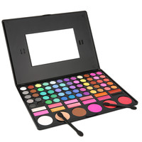 1SET 78 Colors Eye Shadow Cosmetic Make up Palette Lipgloss Mirror Blush Kit Set Long-Lasting Harmless Sale