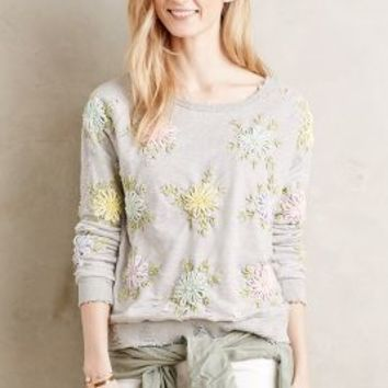 Artisan De Luxe Embroidered Sunblossom Pullover in Multi Size: