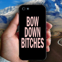 Bow Down Beyonce Inspired - Print on hard plastic case for iPhone case. Select an option