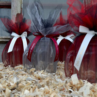 """50 Personalized 5/8"""" Satin Ribbons for Wedding Favors"""