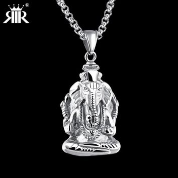 RIR Lord Shiva Pendant Thailand Buddha Genesha Silver Gold color Pendant Charm For Men Women Spiritual Amulet Jewelry gift