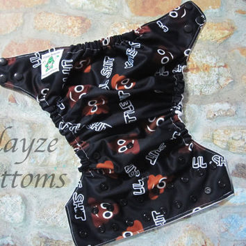 Lil Shit OS Diaper Cover or Pocket Diaper