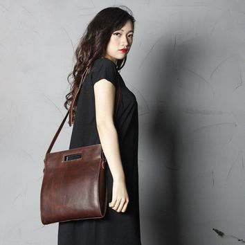BLUESEBE WOMEN HANDMADE FULL GRAIN LEATHER SATCHEL/SHOULDER BAG SCY09