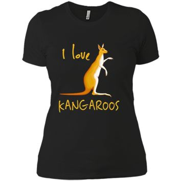 I Love Kangaroos  Australian Marsupials Gift Tee Next Level Ladies Boyfriend Tee