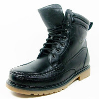 Men's Polar Fox Round Toe Lace Up Casual Boots 508001 Black-323