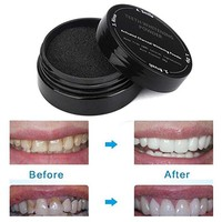 New Natural Teeth Whitening Activated Charcoal Toothpaste Powder