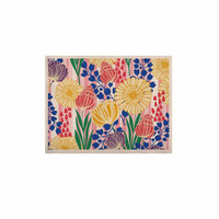 """Amy Reber """"Pretty Bouquet"""" Yellow Floral KESS Naturals Canvas (Frame not Included)"""