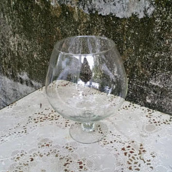 Giant Clear Glass Brandy Snifter 11 Inch Extra Large Size
