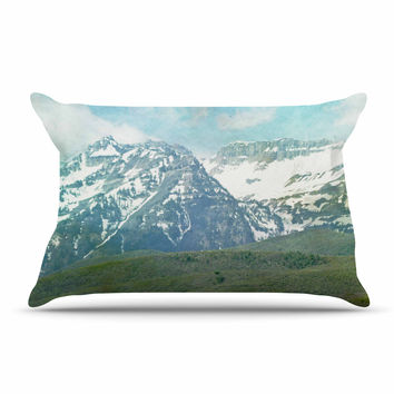 "Sylvia Coomes ""Pastel Mountains "" Blue Nature Pillow Case"