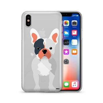French Bulldog - Clear TPU Case Cover Phone Case