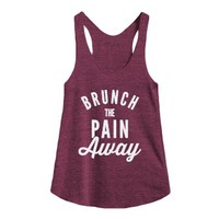 Brunch The Pain Away-Female Tri Cranberry Tank