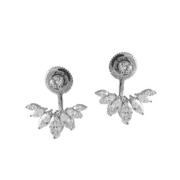 Marquise Front to Back Earrings