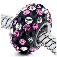 Birthstone Sterling Silver Charm Spacer Fit Pandora Bead