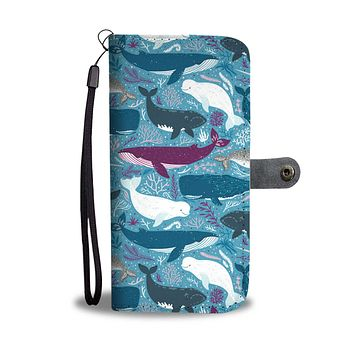 Whale Party Wallet Phone Case